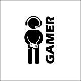 Jspoir Melodiz Sticker Mural la Maison Nouveauté Motif Etanche Vidéo Jeu Joystick Gamer Gaming Sticker Art Décor Autocollant