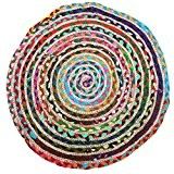 Just Contempo Tapis rond tressé, multicolore, 60 cm