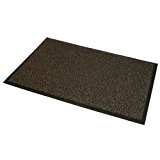 JVL Barrière très résistant Envers en caoutchouc antidérapant porte tapis de sol, vinyle, marron/noir, 80x 140cm, grand