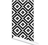 JY$ZB Living room couleur géométrique graphismes personnalité papier peint pvc imperméable à l'eau autocollant toile de fond mural 122cm * ...