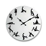 Kama Sutra Horloge murale 35cm de diamètre