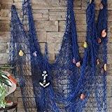 KING DO WAY Chemin De Table Filet De Pêche Avec ANCRE Et COQUILLES Décoratif Décoration Murale Suspendue Maison Marine Méditerranéen ...
