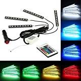KKmoon 12V 4 en 1 Télécommande Sans Fil Atmosphère Contrôle Intérieur Light Bar Plancher de la Voiture Dash LED Décoration ...