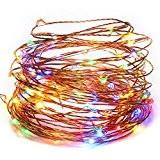 Kohree Guirlande Lumineuse LED USB Lampes Décoratives 100 LED Multi-couleur 10M Guirlande Lumineuse Fil cuivre