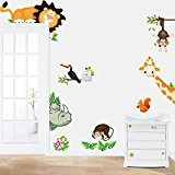 Kolylong Wall Stickers Home Decor Living Room Animal Nursery Zoo Tiger Chambre Enfants Stickers Muraux Accueil Papier Peint DéCoration Murale ...