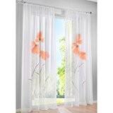 KOU-DECO 1Pc/Paquet Rideau Voilage de Haute Qualité Rideau De Fenêtre Avec Peinture À La Main 140x245CM (orange)