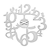 Koziol 2327525 Pip Horloge Murale Matière Thermoplastique Blanc 3,2 x 45 x 44,5 cm