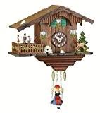Kuckulino Pendulette en miniature de la Forêt Noire maison de la Forêt-Noire maison suisse avec mouvement quartz et chant du ...