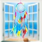 La Cabina Indien Dream Catcher Handemade Attrape-rêves Capteur de Rêves en Plumes - Fleur Multicolore