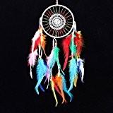La Cabina Indien Dream Catcher Handemade Attrape-rêves Capteur de Rêves en Plumes - Multicolore
