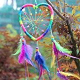 La Cabina Indien Dream Catcher Handemade Attrape-rêves Capteur de Rêves en Plumes - Multicolore (01)
