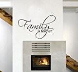 La famille est FOREVER autocollants démontables Wall Sticker Décoration