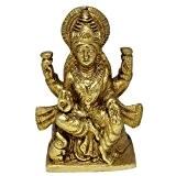 La sculpture et la figurine hindou déesse Laxmi en position assise posture cadeau statue en laiton pour la maman 11 ...