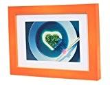 La Vogue 13*18CM Décoration Maison Cadre Photo en Véritable Bois Disponible en 7 Couleurs (orange)