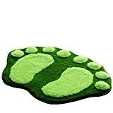 La Vogue Tapis de Salle de Bain Anti-derapant Pour Douche Microfibre Pied Sobre Taille 58.5*38.5CM Vert