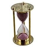 Laiton verre métal horloge sable sablier Timer avec or rond forme Base hauteur 10 cm