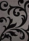 Lalee 347137916Tapis Lambada 451–, Couleur Noir et Gris 240x330 cm