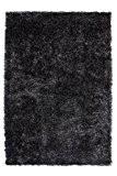 Lalee 347246335 et artisanal créateur moderne shaggy shaggy tapis, Polyester, gris, 120 x 170 cm
