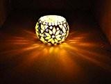Lalhaveli deco Handmade Teal Light Votive bougeoir 8 Cm