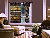 Lalhaveli décoratif soie rideauxs chambre porte fenêtre Valance 108 x 216 cm