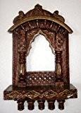 Lalhaveli Design Traditionnel Cadre photo en bois peint à la main de cadeau de Noël 33x 56cm