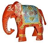 Lalhaveli Home Eléphant Déco Art & forgé fonte 10 x 13 x 4 Cm