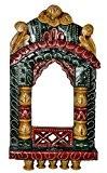 Lalhaveli peint à la main-En bois de Rajasthani Jharokha 42 x 23 x 5 Cm