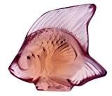 Lalique Joint d'étanchéité, poissons, opaque rose