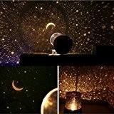 Lampe de Projection de Nuit étoilée Étoiles et lune bebe LED Veilleuse Etoile Enfant pour Chambre Chevet Table de Fille ...