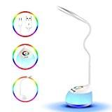 Lampes de Bureau, MengK Multifonctionnel Dimmable LED Lampe avec Col De Cygne Champ Tactile Pour la Lumière de Couleur et ...
