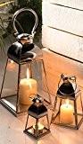 Lanterne en verre et en acier–Taille mini 7,5x 7,5x 7,5cm
