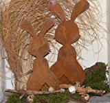 Lapin de Pâques Berti, Patine Idée Déco pour Pâques - 3