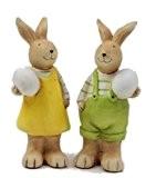 Lapin paire de Pâques Lapin en céramique grand