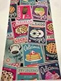 LaVelaHOME Tapis de cuisine antidérapant avec impression vintage, motif café, cookies, desserts, glaces, lavable en machine, fabriqué en Italie ... ...