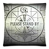 Le coup Veuillez Support par Fallout 4Taie d'oreiller couverture taie d'oreiller housse coussin Taie d'oreiller 18x 18(deux côtés)