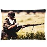 Le coup Waffen SS Taie d'oreiller en action 20x 30Deux Côtés zippée Couvre-lit avec taies d'oreiller rectangulaire taies d'oreiller