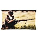 Le coup Waffen SS zippée en action Custom Rectangle Taie d'oreiller Coussin cas Coussin 20x 20x 36Deux Côtés