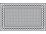 Le Grand Cirque TAPILINO-CORD-GRIS-65140 Tapis Vinyle Multicolore 65 x 140 cm