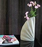 Leewadee Sidney Vase de table en céramique Blanc L 30 cm
