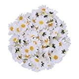 LianLe®100PCS Chrysanthème tête de fleur artificielle Chrysanthème bourgeons artisanat pour la maison de mariage bricolage décoration festival