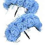 LianLe®144PCS Rose tête de fleur artificielle Rose bourgeons artisanat en mousse pour la maison de mariage bricolage décoration festival