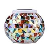 LianLe®Led Lanterne solaire lumineuse décorative Lampe de Jardin du verre effet mosaïque