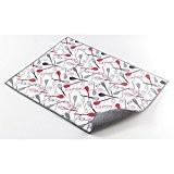 Ligne Décor Easy Deco Tapis d'Evier Microfibre Polyester Gris 50,5 x 38 x 50,5 cm