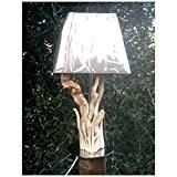 lily creation - lampe bois flotté c?ur cadeau st valentin