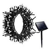 Litom Guirlande Lumineuse Solaire, 200 LED Blanc Guirlande Solaire Extérieur, Longueur 22M, avec 8 Modes de Travail pour Décoration Jardin, ...