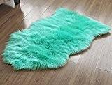 LIVEBOX décoratifs Luxe imitation peau de mouton Housse de siège de chaise Uni Shaggy Laine Naturel Supersoft Trow Tapis de ...