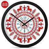 LKMNJ Tableau mural adultes moderne minimaliste Horloge Clock-Table , Muet d'oiseaux dans le Cheval) Horloges ,12 Résine noir fort