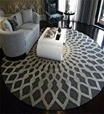 LLD DITAN Tapis rondes nordiques Salon Table basse Tapis Chambre à coucher Étude Clubhouse Mat ( couleur : Gray , ...