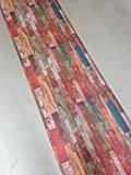 Loft City Tapis de cuisine motif mur en bois multicolore, lavable en machine, antidérapant, fabriqué en Italie, vintage 52 x ...