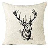 LONUPAZZ canapé Throw Cushion Cover Housse de coussin 45cm*45cm/17.7*17.7 (L)